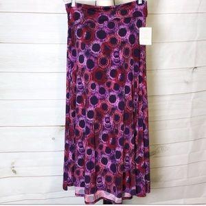 NWT LuLaRoe Purple Circle Pattern Maxi Skirt